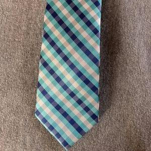 Elegant Men's tie striped blue colors,
